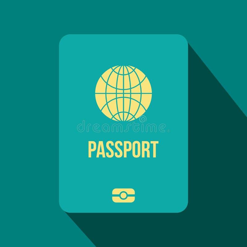 Επίπεδο εικονίδιο διαβατηρίων ελεύθερη απεικόνιση δικαιώματος