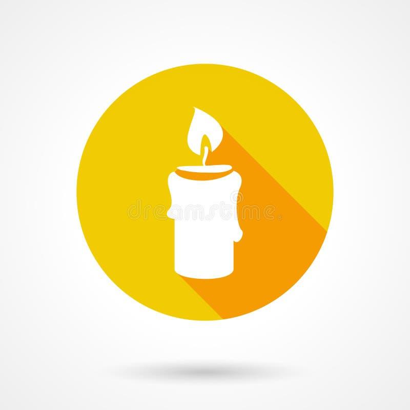 Επίπεδο εικονίδιο κεριών διανυσματική απεικόνιση