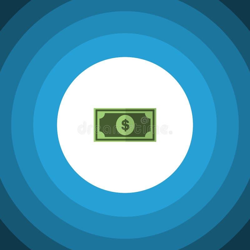 Επίπεδο εικονίδιο δολαρίων Το διανυσματικό στοιχείο χαρτονομισμάτων μπορεί να χρησιμοποιηθεί για το χαρτονόμισμα, χρήματα, έννοια απεικόνιση αποθεμάτων