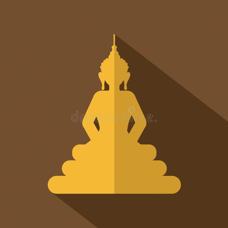 Επίπεδο εικονίδιο του Βούδα σχεδίου διανυσματική απεικόνιση