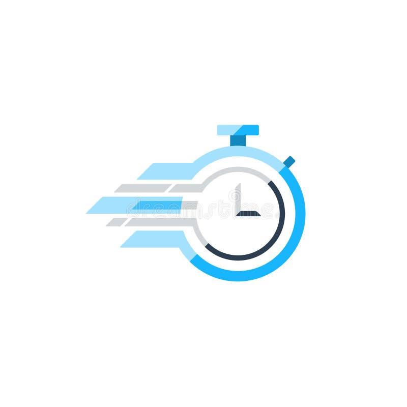Επίπεδο διανυσματικό εικονίδιο χρονομέτρων με διακόπτη, χρονική έννοια ελεύθερη απεικόνιση δικαιώματος