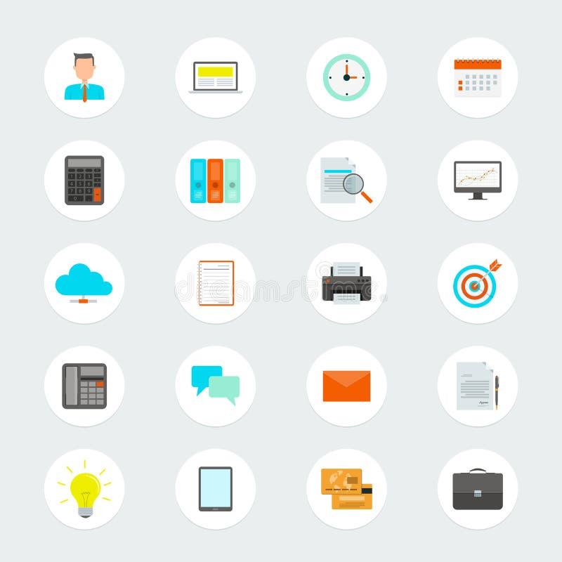 Επίπεδο διανυσματικό επιχειρησιακό εικονίδιο για τον Ιστό και την εφαρμογή ελεύθερη απεικόνιση δικαιώματος