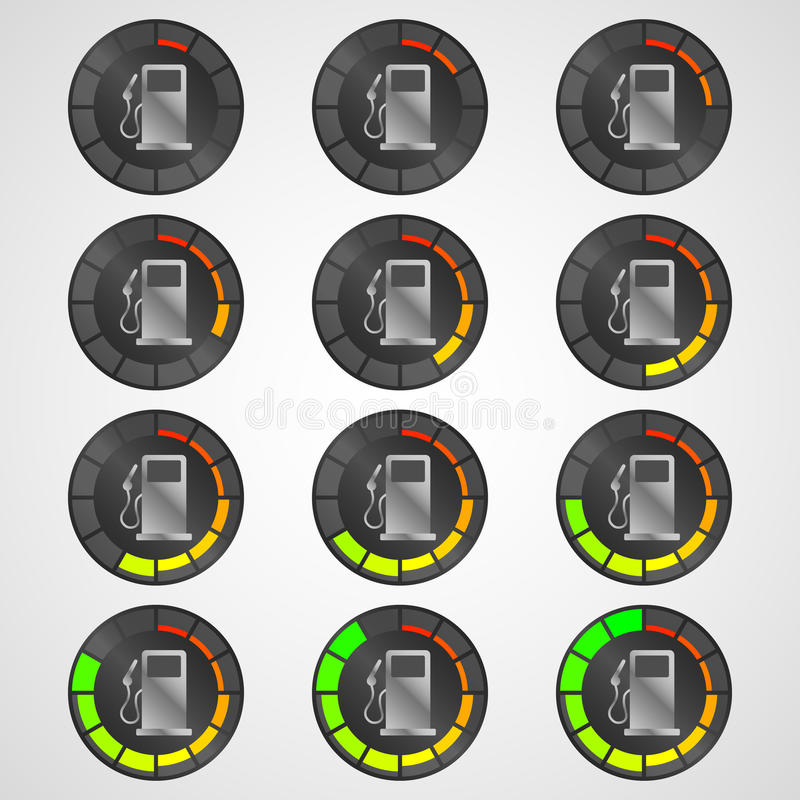 Επίπεδο καυσίμων εικονιδίων στοκ φωτογραφία με δικαίωμα ελεύθερης χρήσης