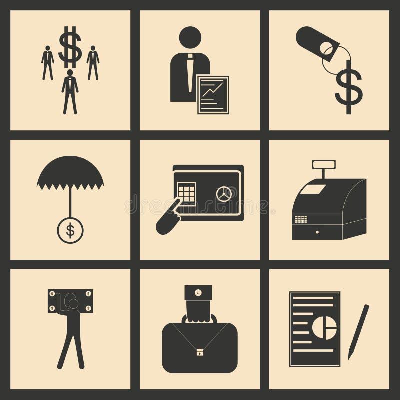 Επίπεδο οικονομικό εικονίδιο έννοιας ελεύθερη απεικόνιση δικαιώματος