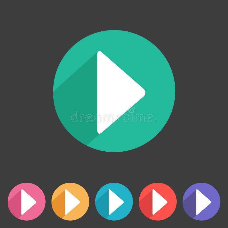 Επίπεδο παιχνίδι εικονιδίων γραφικής παράστασης παιχνιδιών διανυσματική απεικόνιση