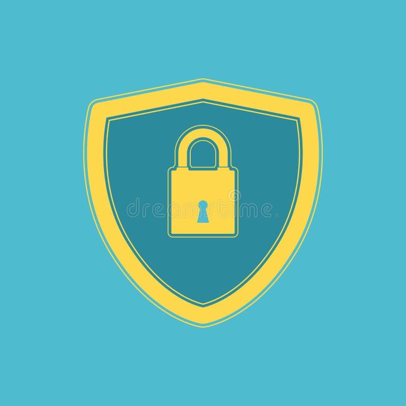 Επίπεδο σχέδιο εικονιδίων ασφάλειας Cyber ελεύθερη απεικόνιση δικαιώματος