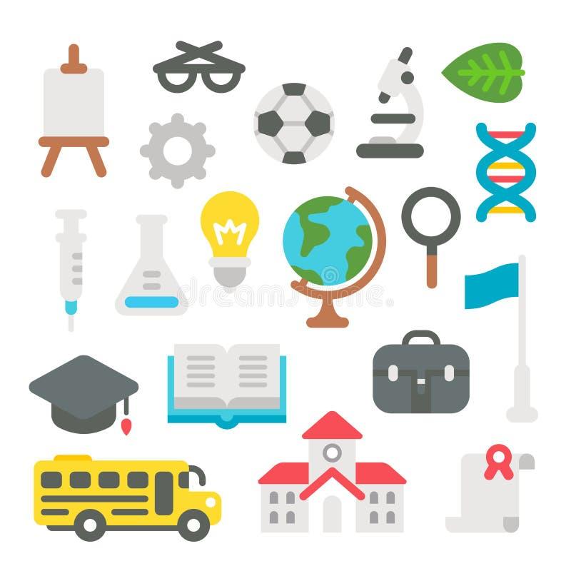 Επίπεδο σχέδιο πίσω στο σχολικό σύνολο απεικόνιση αποθεμάτων
