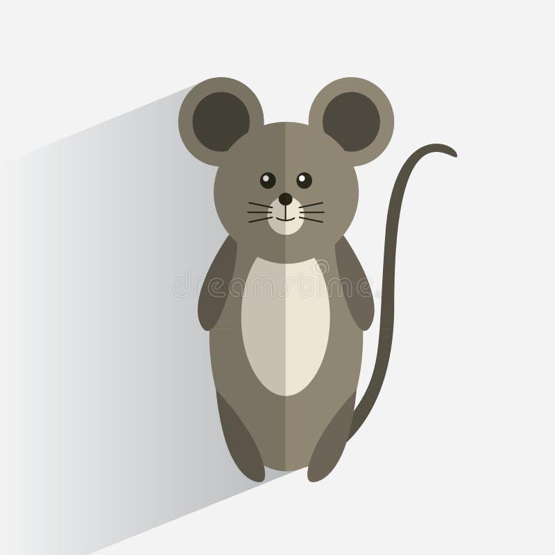 Επίπεδο σχέδιο ποντικιών λογότυπων διανυσματική απεικόνιση
