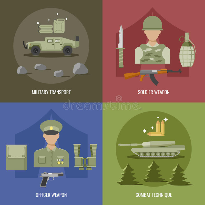 Επίπεδο σχέδιο στρατού ελεύθερη απεικόνιση δικαιώματος