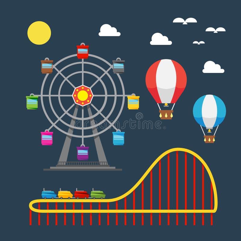 Επίπεδο σχέδιο του φεστιβάλ καρναβαλιού διανυσματική απεικόνιση