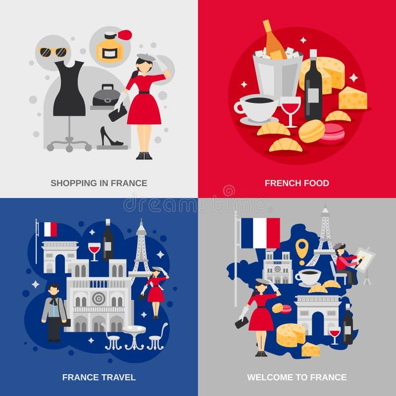 Επίπεδο σύνολο της Γαλλίας απεικόνιση αποθεμάτων