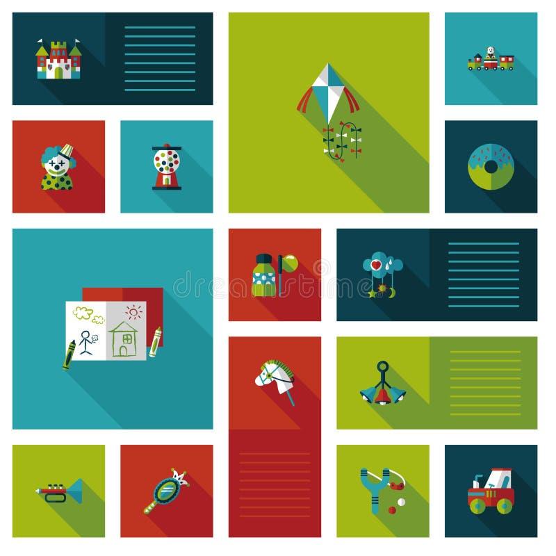 Επίπεδο υπόβαθρο ui παιχνιδιών παιδιών, eps10 ελεύθερη απεικόνιση δικαιώματος
