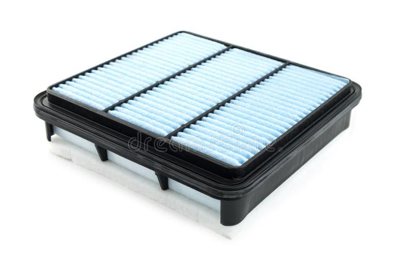 Επίπεδο φίλτρο αέρα μηχανών σε μια πλαστική περίπτωση σε ένα λευκό στοκ φωτογραφία με δικαίωμα ελεύθερης χρήσης
