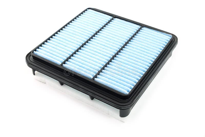 Επίπεδο φίλτρο αέρα μηχανών σε μια πλαστική περίπτωση σε ένα λευκό στοκ εικόνες