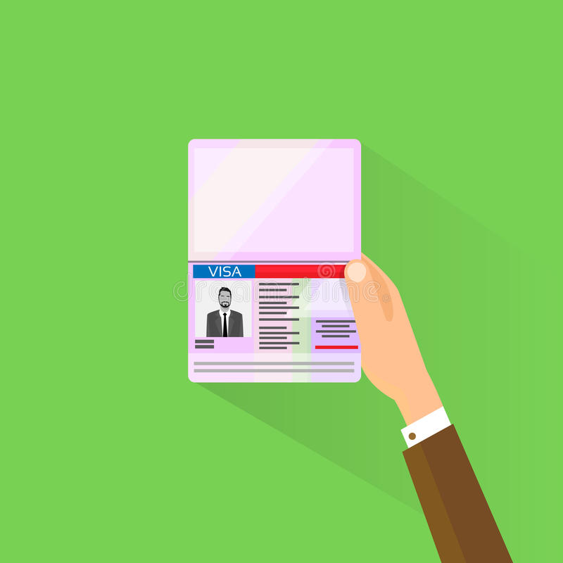 Download Επίπεδο χέρι επιχειρηματιών εικονιδίων διαβατηρίων γραμματοσήμων θεωρήσεων Διανυσματική απεικόνιση - εικονογραφία από τελωνείο, διεθνής: 62719575