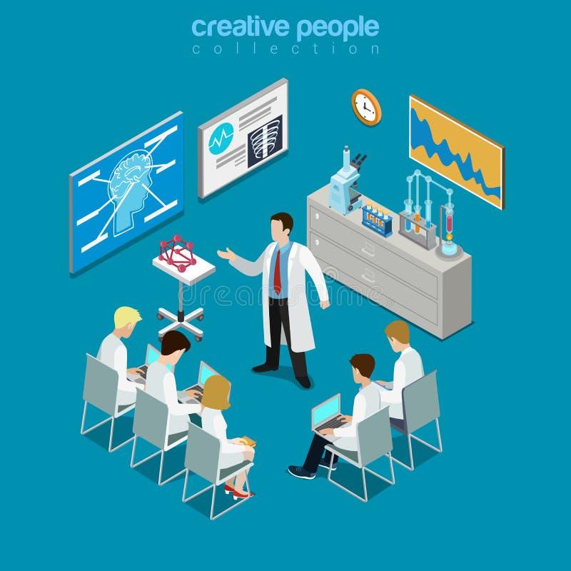Επίπεδο isometric διάνυσμα δωματίων διαβουλεύσεων ομάδας γιατρών Concilium ελεύθερη απεικόνιση δικαιώματος