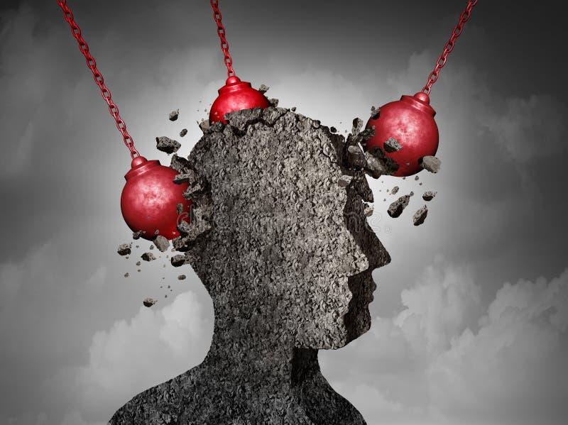Επίπονη έννοια πονοκέφαλου ελεύθερη απεικόνιση δικαιώματος