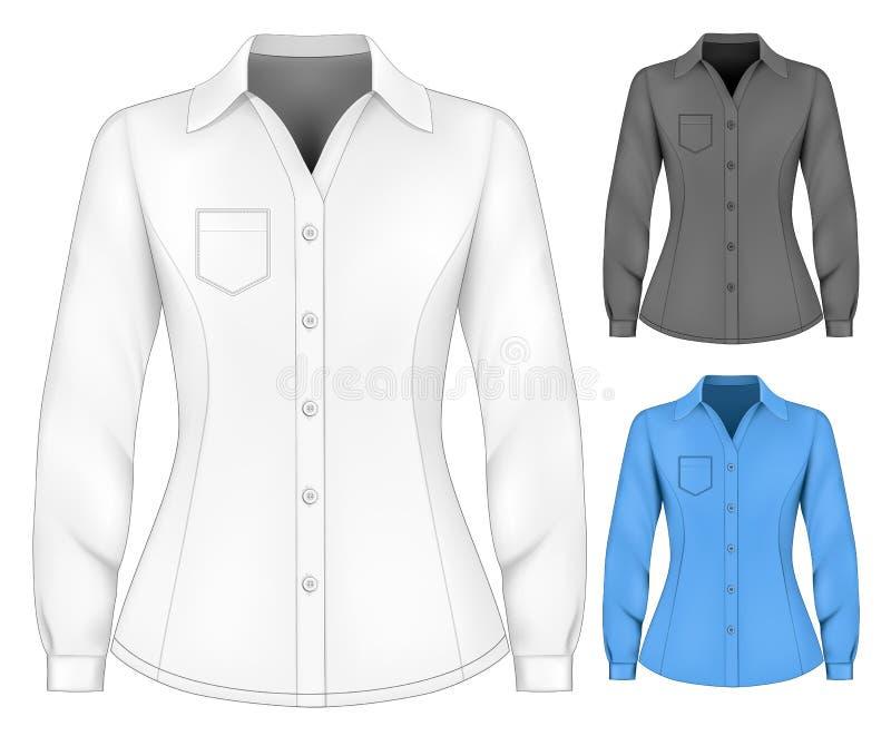 Επίσημες μακριές sleeved μπλούζες για την κυρία ελεύθερη απεικόνιση δικαιώματος
