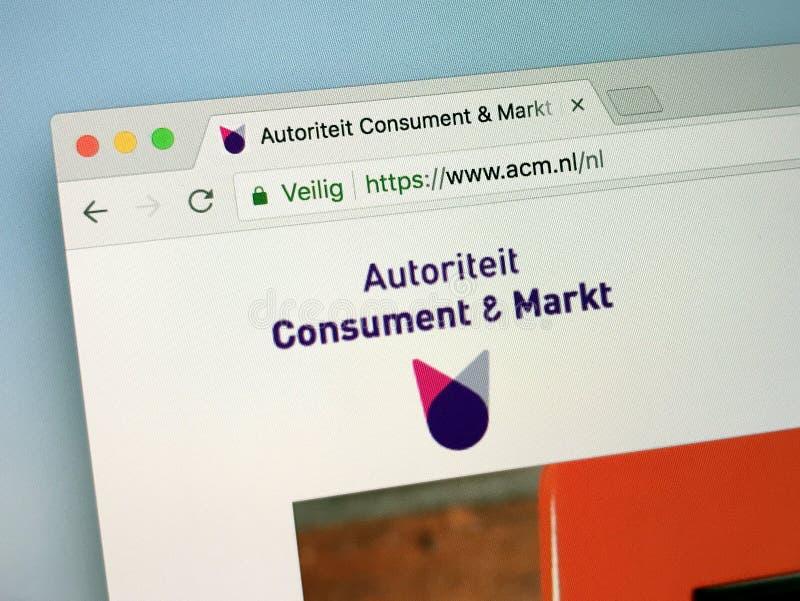 Επίσημη αρχική σελίδα της ολλανδικής αρχής για τους καταναλωτές και τις αγορές - ACM στοκ φωτογραφίες