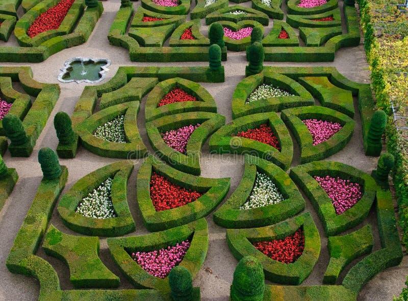 επίσημη κοιλάδα της Loire κήπων στοκ φωτογραφία