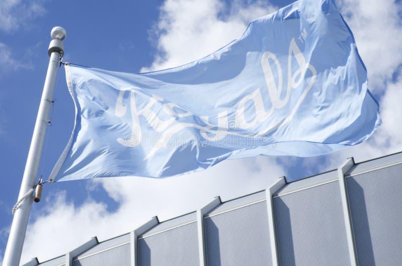Επίσημη σημαία Royals πόλεων του Κάνσας στοκ φωτογραφία με δικαίωμα ελεύθερης χρήσης