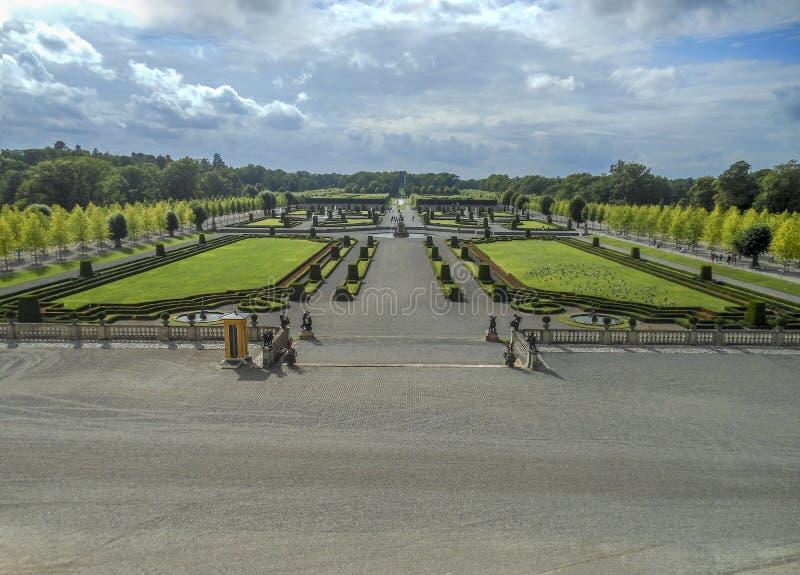 Επίσημος κήπος στη Στοκχόλμη Drottningholm στοκ φωτογραφίες