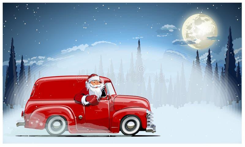 επίσης διανυσματικός χειμώνας προγραμμάτων Χριστουγέννων καρτών διανυσματική απεικόνιση