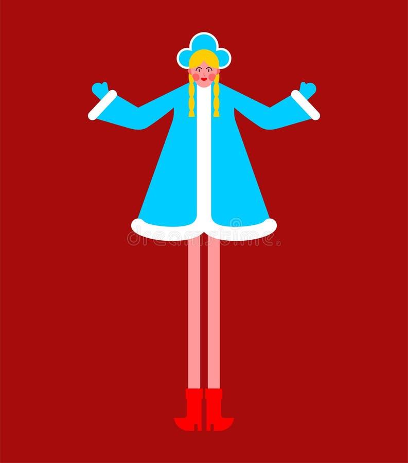 επίσης ως γνωστό χιόνι snegourochka της Ρωσίας κοριτσιών συλλογής κούκλα Εγγονή του παγετού παππούδων στη Ρωσία Νέο Υ ελεύθερη απεικόνιση δικαιώματος