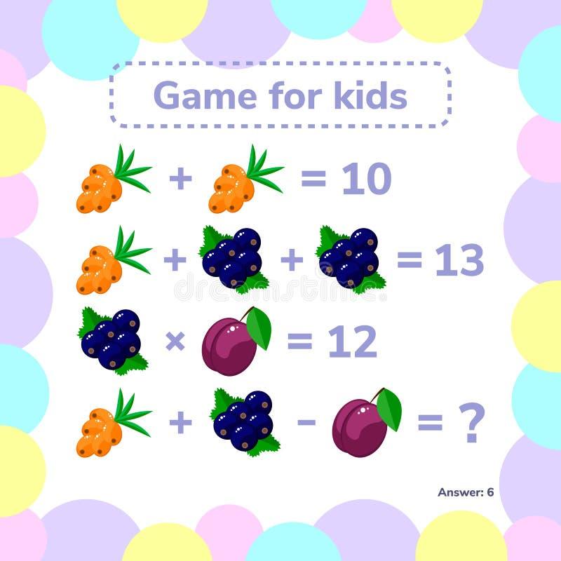 επίσης corel σύρετε το διάνυσμα απεικόνισης Εκπαιδευτικός ένα μαθηματικό παιχνίδι Στόχος λογικής διανυσματική απεικόνιση