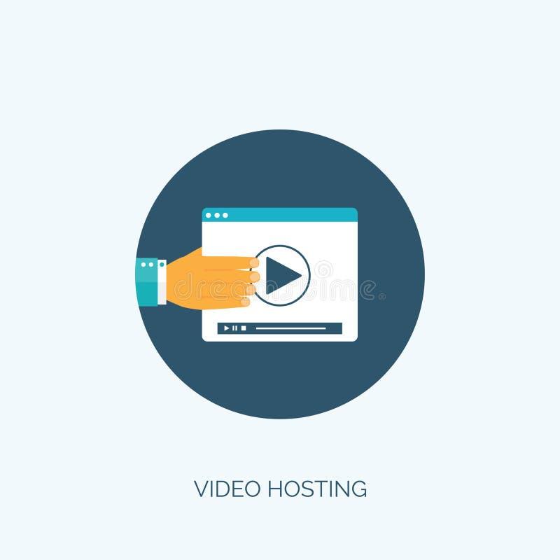 επίσης corel σύρετε το διάνυσμα απεικόνισης Επίπεδη τηλεοπτική φιλοξενία Σε απευθείας σύνδεση υπηρεσίες κινηματογράφων ελεύθερη απεικόνιση δικαιώματος