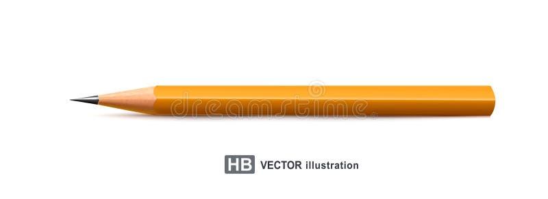 επίσης corel σύρετε το διάνυσμα απεικόνισης Ρεαλιστικό μολύβι που απομονώνεται στο άσπρο backgrou απεικόνιση αποθεμάτων