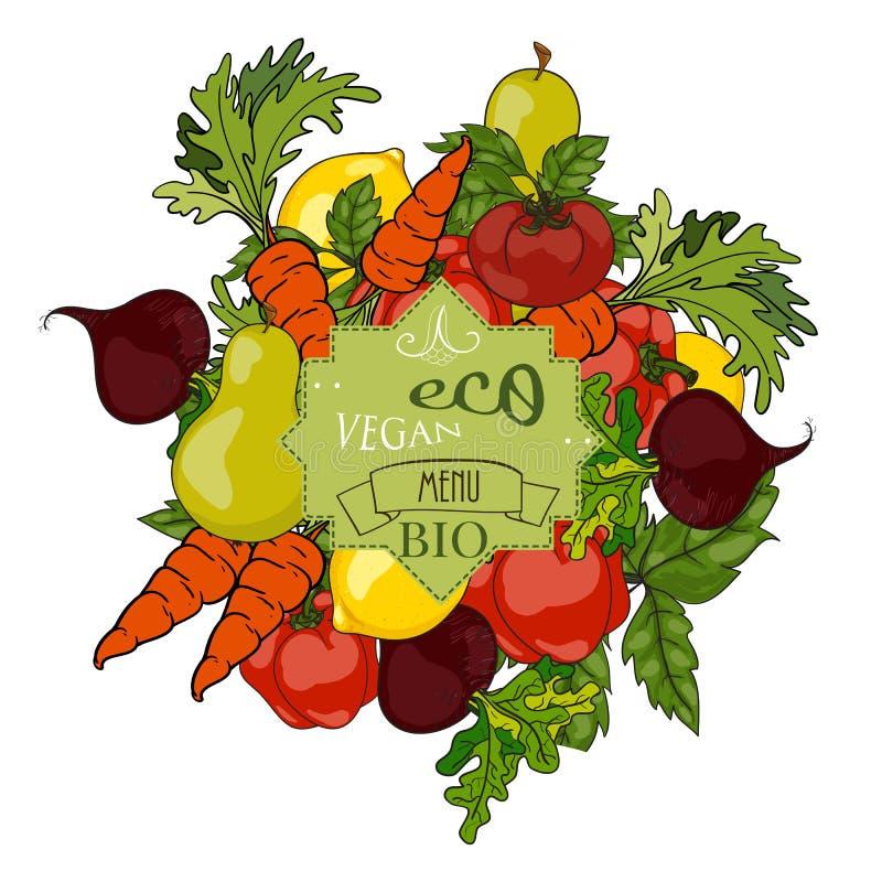 επίσης corel σύρετε το διάνυσμα απεικόνισης Σύνολο φρέσκων φρούτων και λαχανικών με ένα λ διανυσματική απεικόνιση