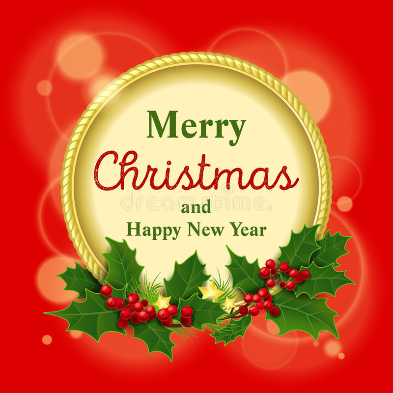 επίσης corel σύρετε το διάνυσμα απεικόνισης Χαρούμενα Χριστούγεννα και ένας ευτυχής απεικόνιση αποθεμάτων