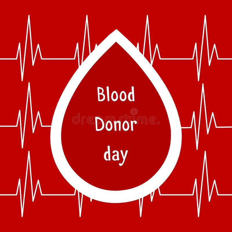 επίσης corel σύρετε το διάνυσμα απεικόνισης Χορηγός παγκόσμιου αίματος ημέρα Ιούνιος-14 Έννοια δωρεάς αίματος με την πτώση Σφαιρι ελεύθερη απεικόνιση δικαιώματος