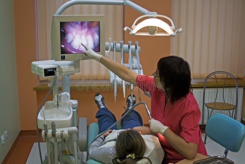επίσκεψη οδοντιάτρων στοκ εικόνα με δικαίωμα ελεύθερης χρήσης