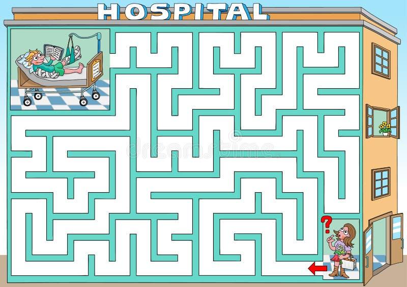 Επίσκεψη σε ένα νοσοκομείο ελεύθερη απεικόνιση δικαιώματος