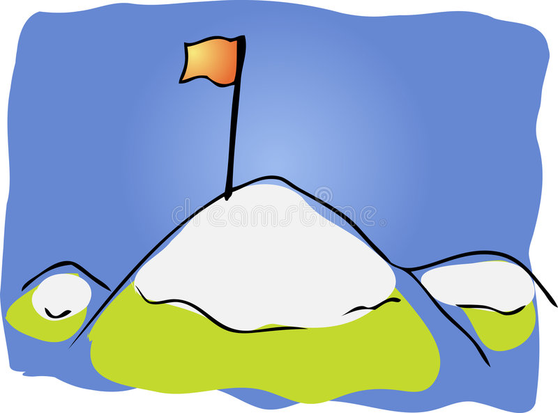 επίτευγμα mountaintop ελεύθερη απεικόνιση δικαιώματος
