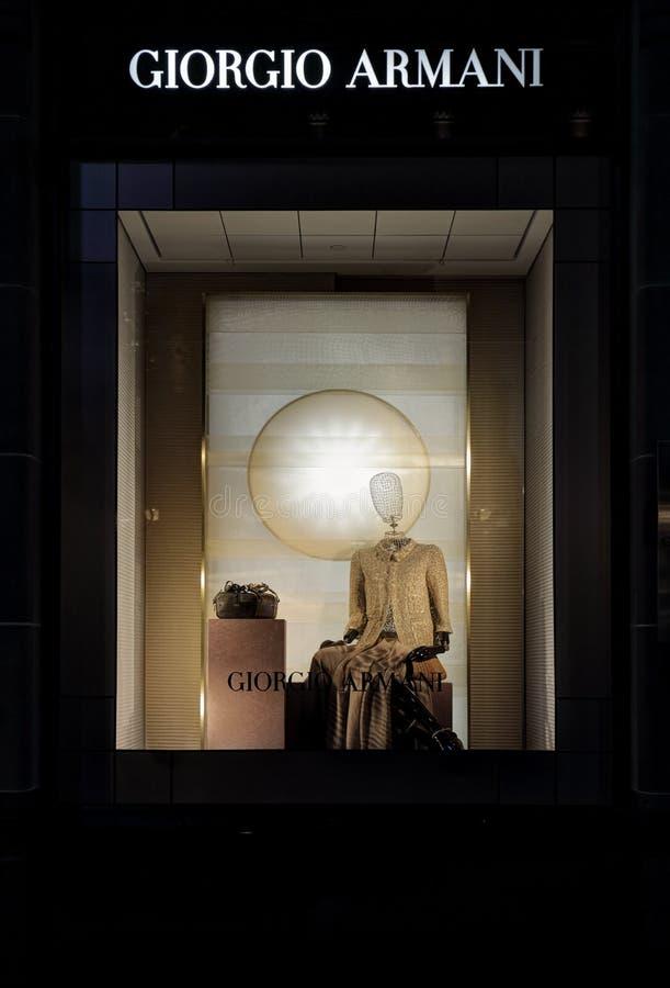 Επίδειξη λιανικών καταστημάτων του Giorgio Armani στοκ εικόνα με δικαίωμα ελεύθερης χρήσης