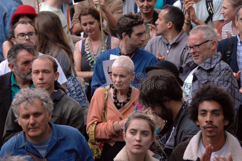 Επίδειξη Λονδίνο 2016 κλιματικής αλλαγής της Vivian Westwood στοκ φωτογραφία με δικαίωμα ελεύθερης χρήσης