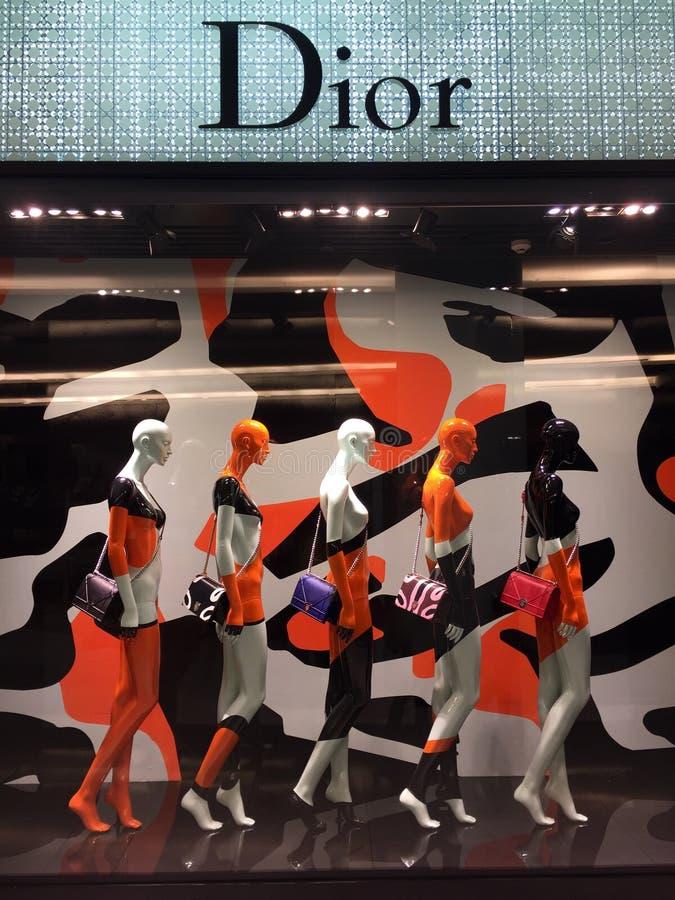 Επίδειξη παραθύρων Dior σε Thainland στοκ εικόνα με δικαίωμα ελεύθερης χρήσης