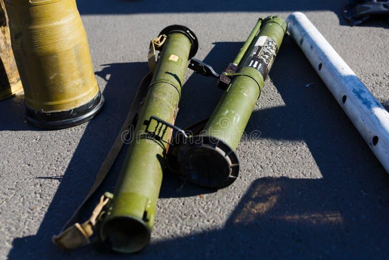 Επίδειξη των ρωσικών όπλων σε Kiyv στοκ φωτογραφία με δικαίωμα ελεύθερης χρήσης
