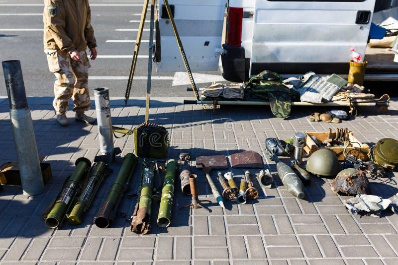 Επίδειξη των ρωσικών όπλων σε Kiyv στοκ εικόνες