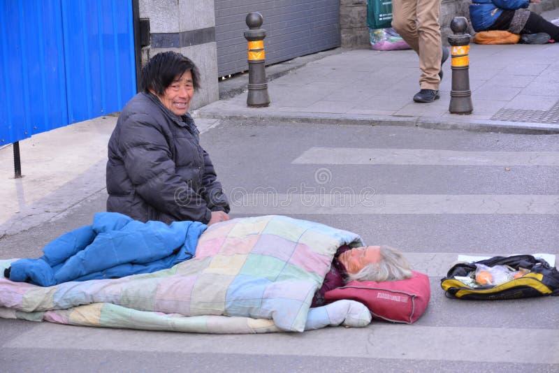 Επαίτες στο Πεκίνο στοκ φωτογραφία με δικαίωμα ελεύθερης χρήσης