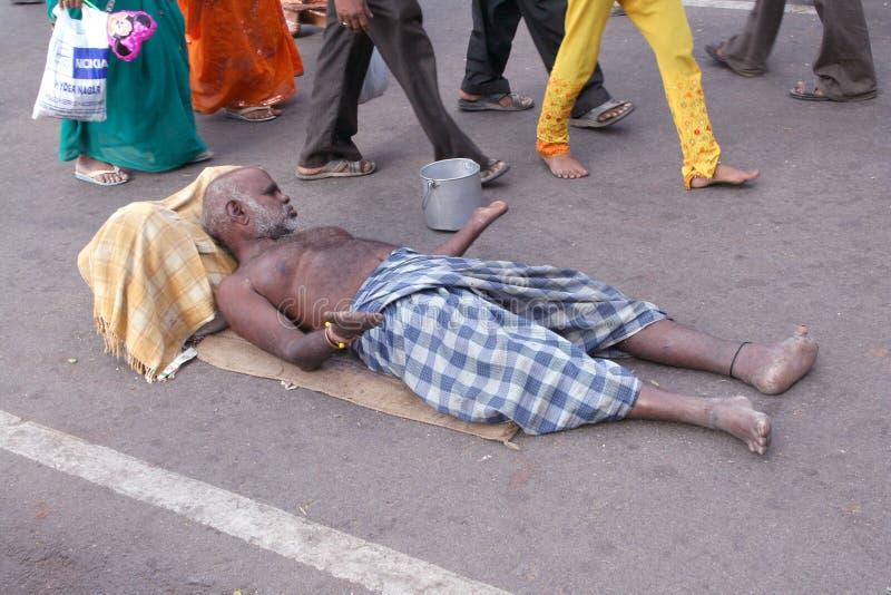 επαίτης Ινδία στοκ φωτογραφία με δικαίωμα ελεύθερης χρήσης