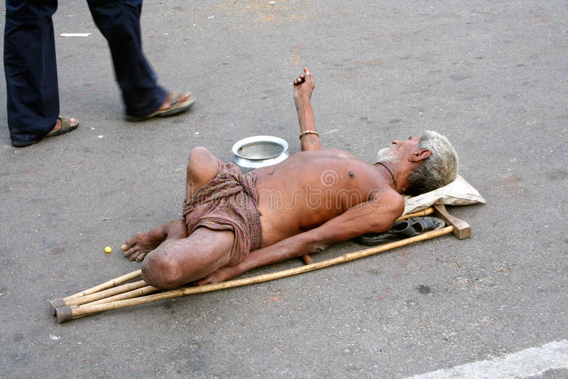 επαίτης Ινδία στοκ φωτογραφίες με δικαίωμα ελεύθερης χρήσης