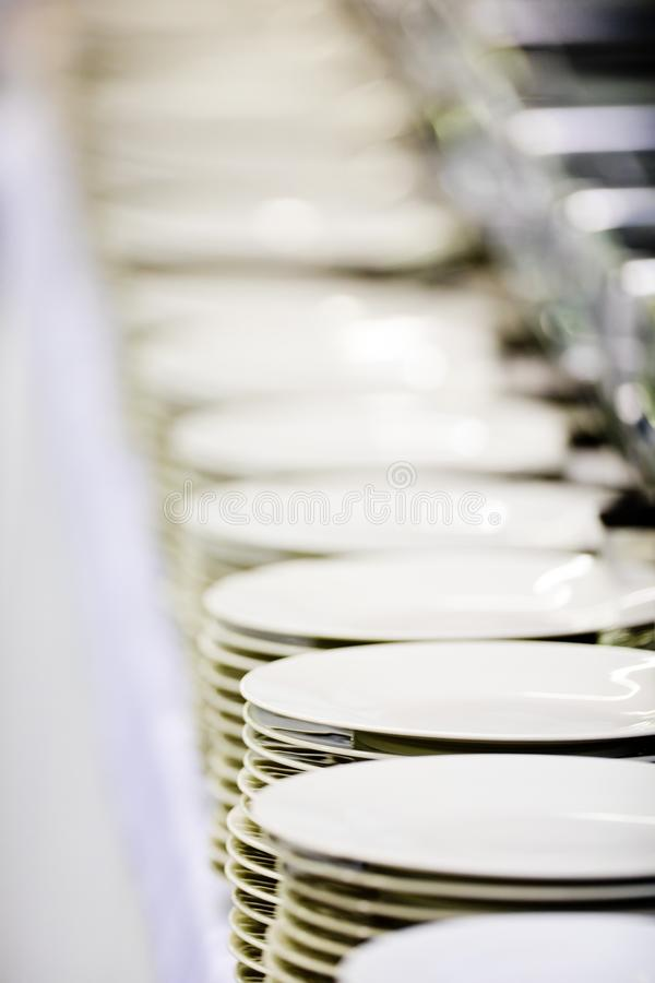 Επαγγελματικά πιάτα τομέα εστιάσεως στοκ εικόνες