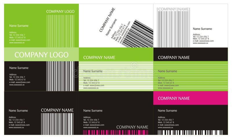επαγγελματικές κάρτες π διανυσματική απεικόνιση