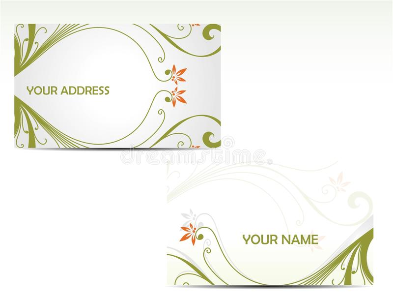 επαγγελματικές κάρτες διανυσματική απεικόνιση