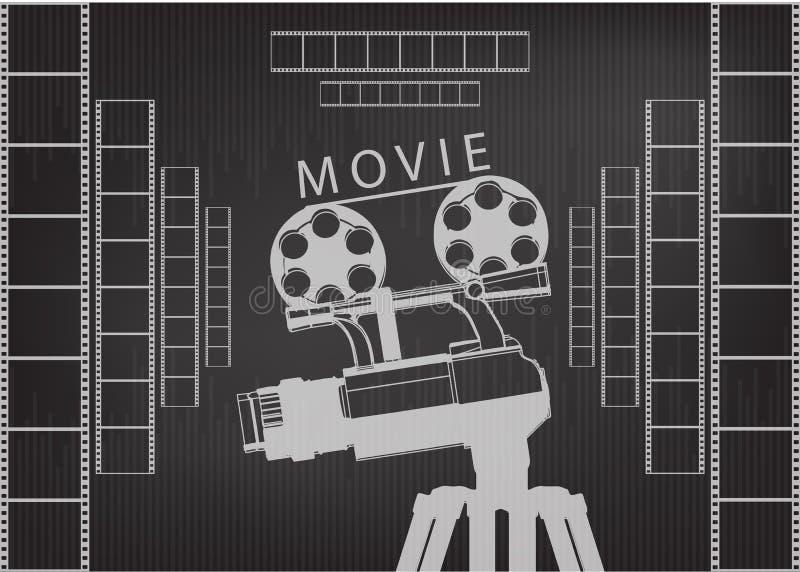 Επαγγελματική κάμερα σε ένα τρίποδο και μια ταινία απεικόνιση αποθεμάτων
