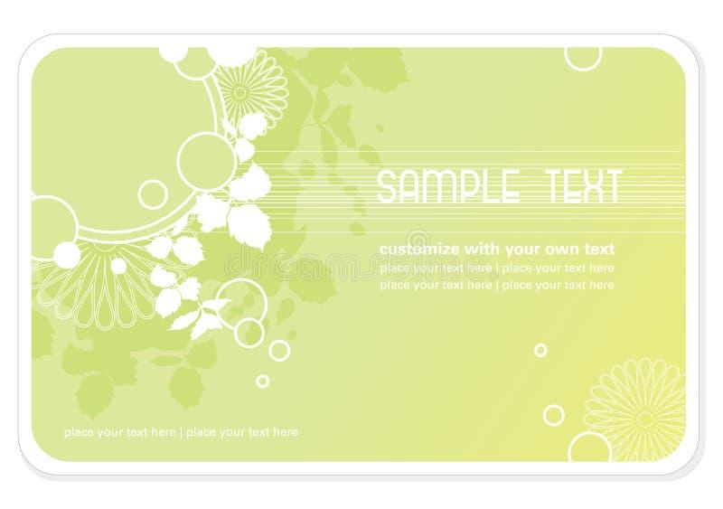 επαγγελματική κάρτα ανασκόπησης floral διανυσματική απεικόνιση